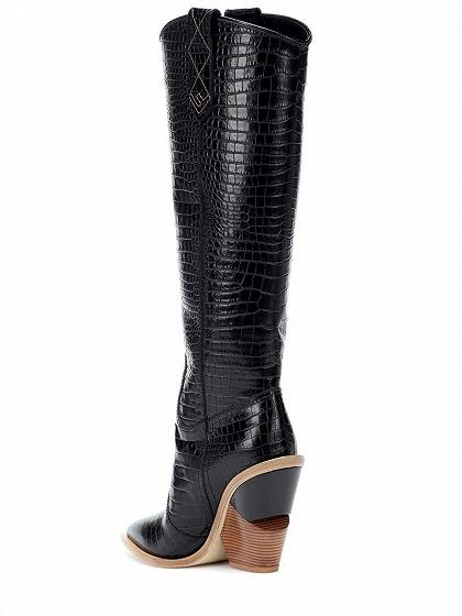 dceb01c9e1718 ... Black Stripe Microfiber Pointed Toe High Heeled Over The Knee Boots ...