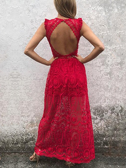 465bacd2ae3 Source:https://www.chiclookcloset.com/products/red-plunge-sheer-lace -frill-open-back-sleeveless-maxi-dress