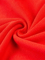 Red Cotton Tie Detail Frill Trim Chic Women Cami Mini Dress