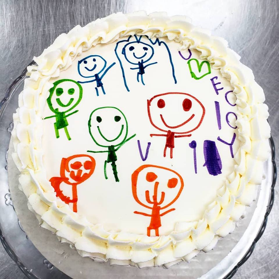 Kids Drawing Cake