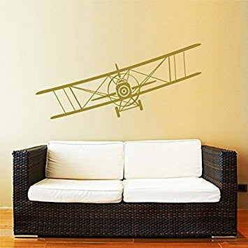 This biplane decal would look great in our nursery.