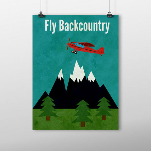 This Fly Backcountry poster is a great gift for pilots!