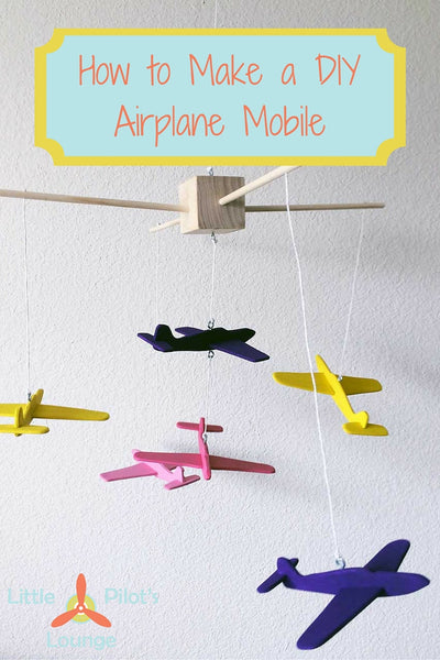 I'm in love with this adorable DIY airplane mobile. It looks so cute and not too difficult to make.