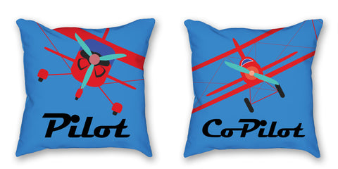 This Pilot-CoPilot Pillow set is the perfect gift for the pilot in your life
