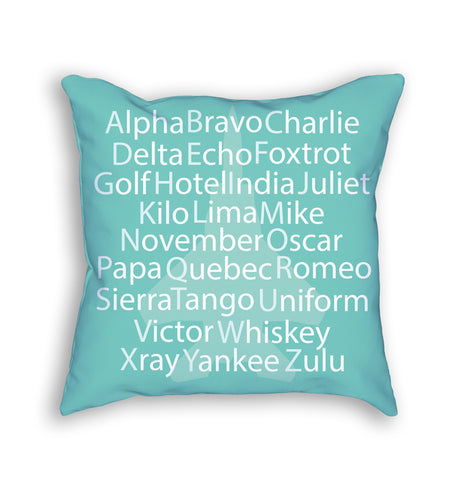 Phonetic alphabet pillow - This is a great gift for pilots