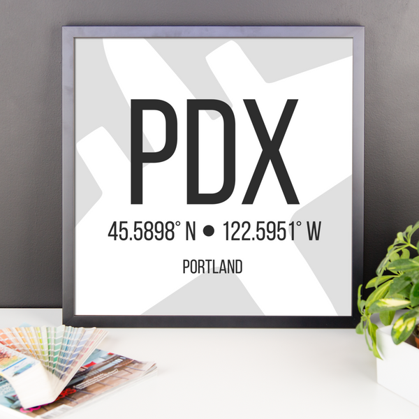 Portland Oregon Poster Gray - PDX