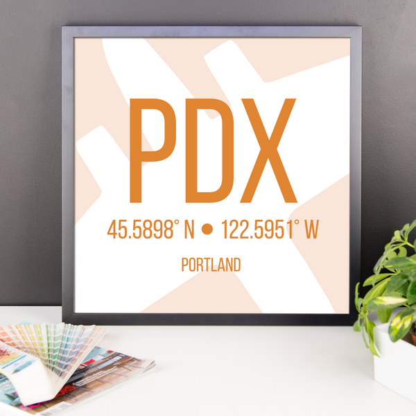 Portland Oregon Poster Orange - PDX