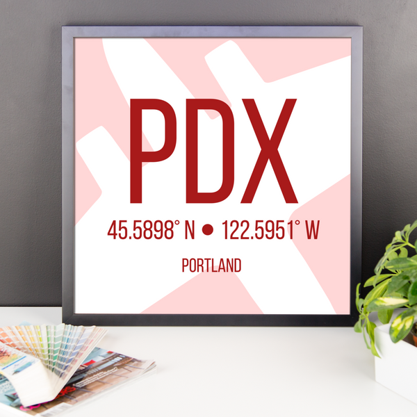 Portland Oregon Poster Red - PDX