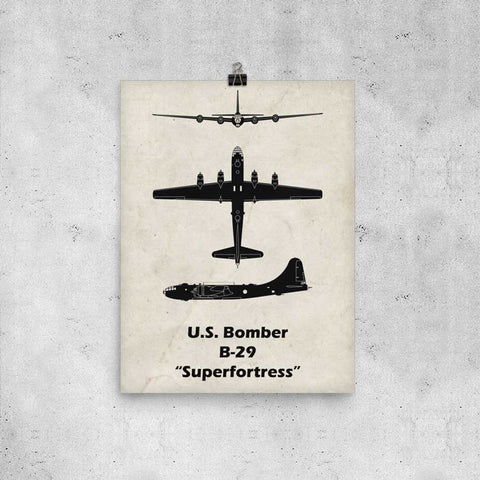 The B-29 Superfortress is one of my favorite airplanes. This B-29 print would be a great fathers day gift for the pilot in your life.