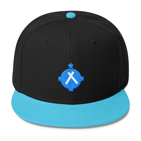 This beautiful blue snapback hat is one accessory that should be found in every pilots closet.