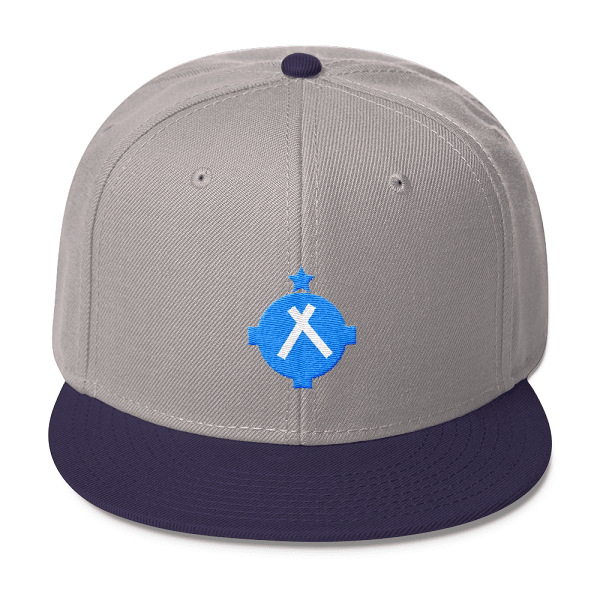 This gray and navy snapback hat is one that should be found on the head of every amateur pilot out there.