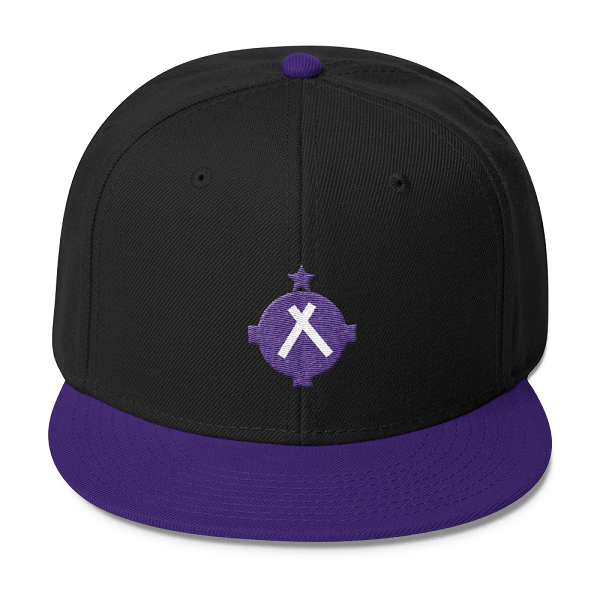 Aviation Hat - VFR Symbol Snapback Hat - Purple