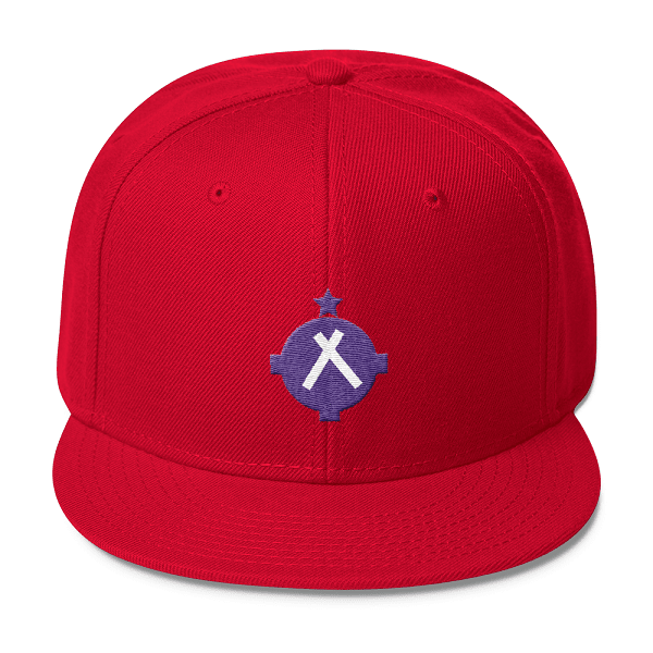Aviation Hat - VFR Symbol Snapback Hat - Red