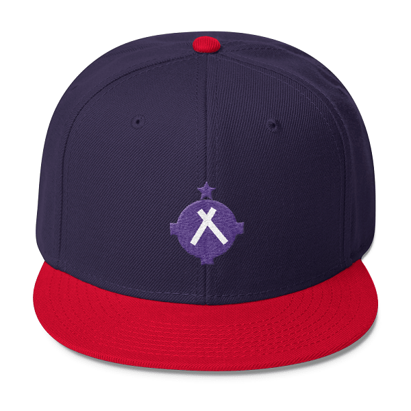 Aviation Hat - VFR Symbol Snapback Hat - Navy/Red