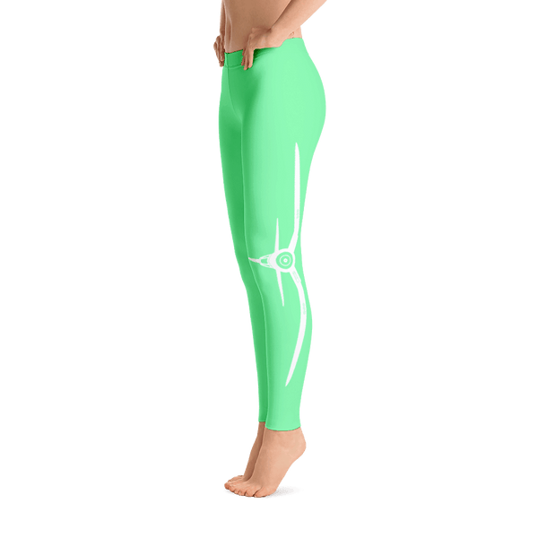 Don't you just love these aviation leggings. Live life off the ground in frosty green with a corsair on the side.