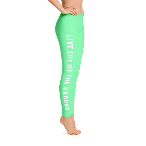 Don't you just love these aviation leggings. Live life off the ground in frosty green.