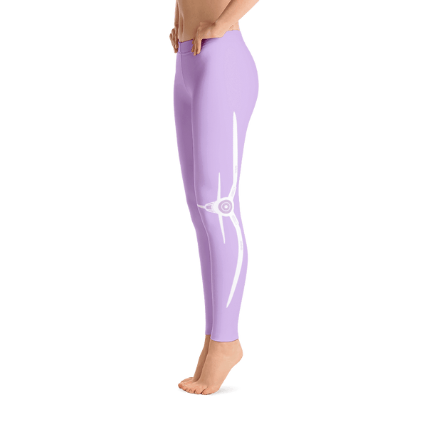 These purple airplane leggings are perfect! I love the saying on the side, Live life off the ground with a corsair on the other side.