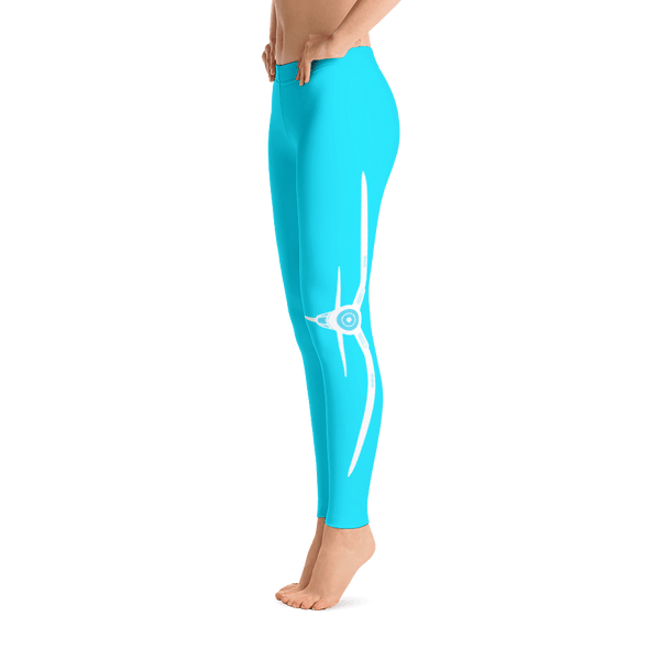 These sky blue airplane leggings are so cute. I love the quote on the side, live life off the ground and the corsair on the other side.