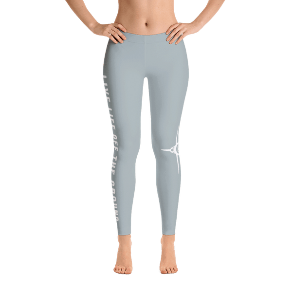 Looking for the perfect airplane leggings? These sky gray corsair leggings are perfect.