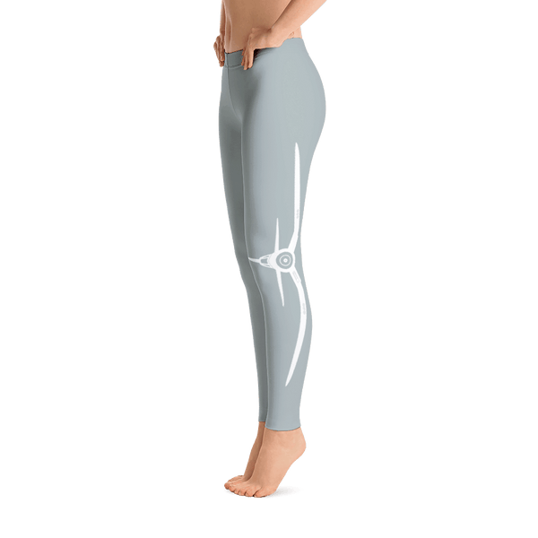 These corsair sky gray airplane leggings are perfect for an afternoon in the skies.