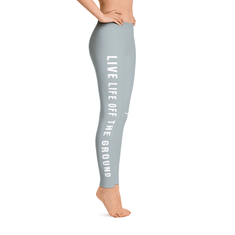 Cruise the skies in these cute sky gray airplane leggings.