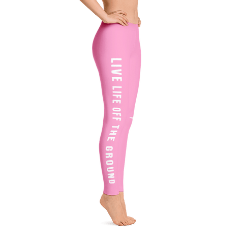 Live life off the ground in these smoky rose leggings.