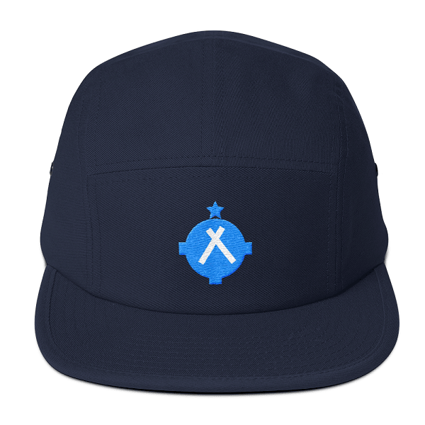 This navy camper style hat is what every pilot dreams of wearing.