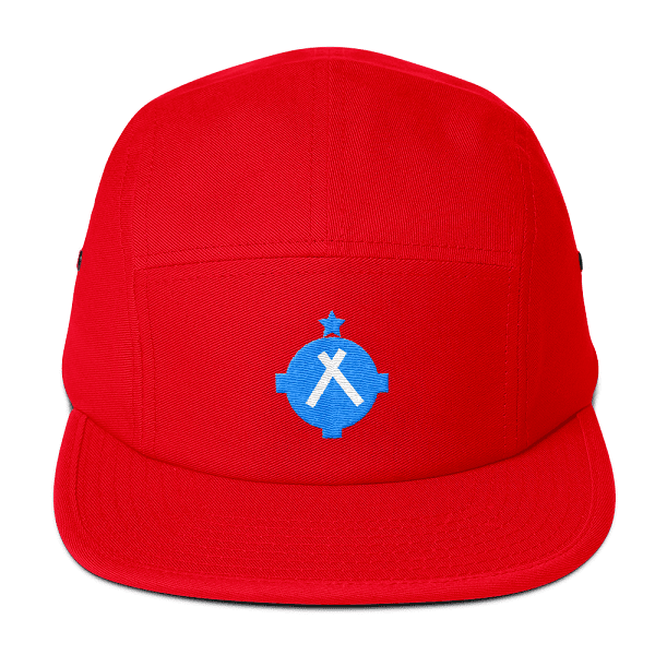 This bright red camper style hat is perfect for anyone who's obsessed with aviation.