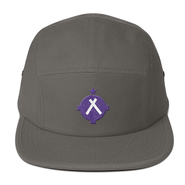 Any pilot will love this gray camper style hat with the magenta VFR symbol on the front.