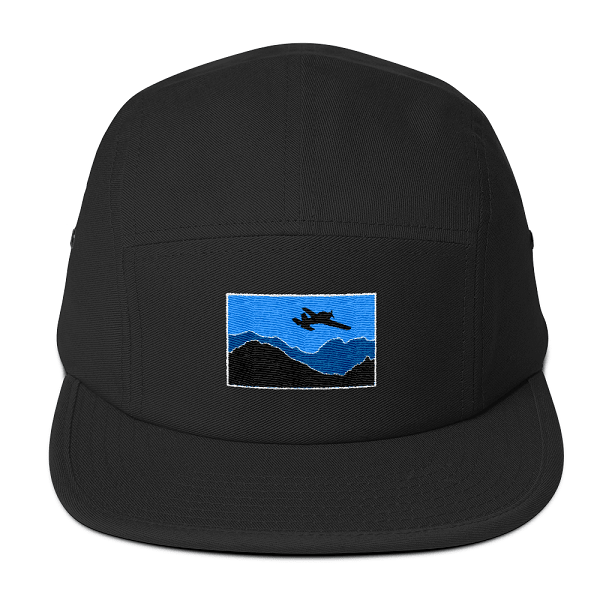 Every  pilot ought to fly the skies wearing one of these black airplane camper hats.
