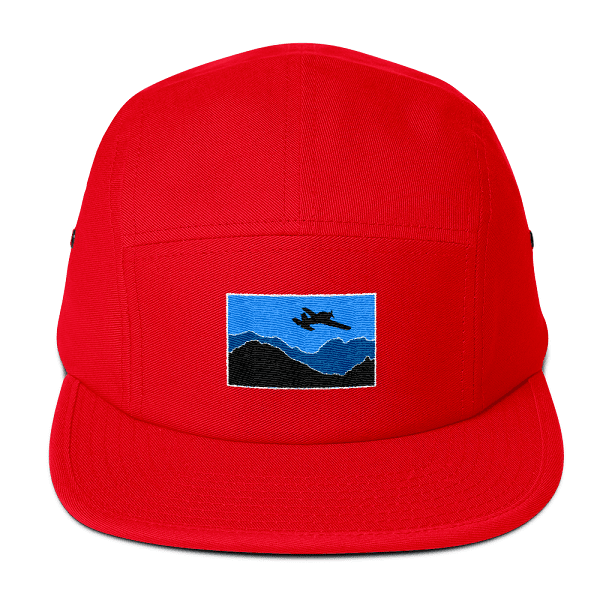 You'll be seen for miles around in this bold red camper style hat. If your a pilot who likes to stand out this hat is what you've always dreamed of.