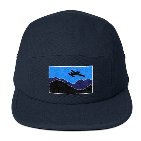 This blue camper style hat is one of our all time favorites. Every pilot ought to fly the skies wearing this comfortable hat.