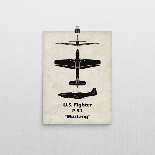 What a cool poster of the P-51 Mustang