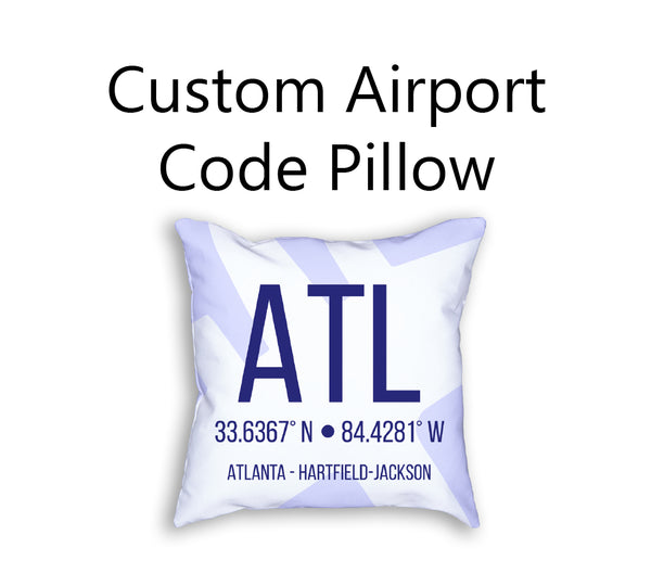 Pillow - Custom Airport Code Pillow