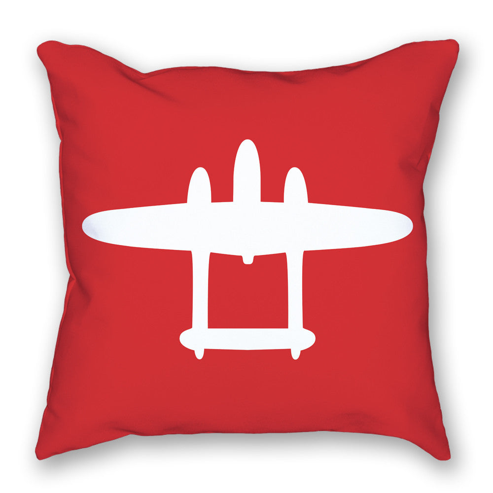 Pillow - P-38 Lightning Bright Airplane Pillow