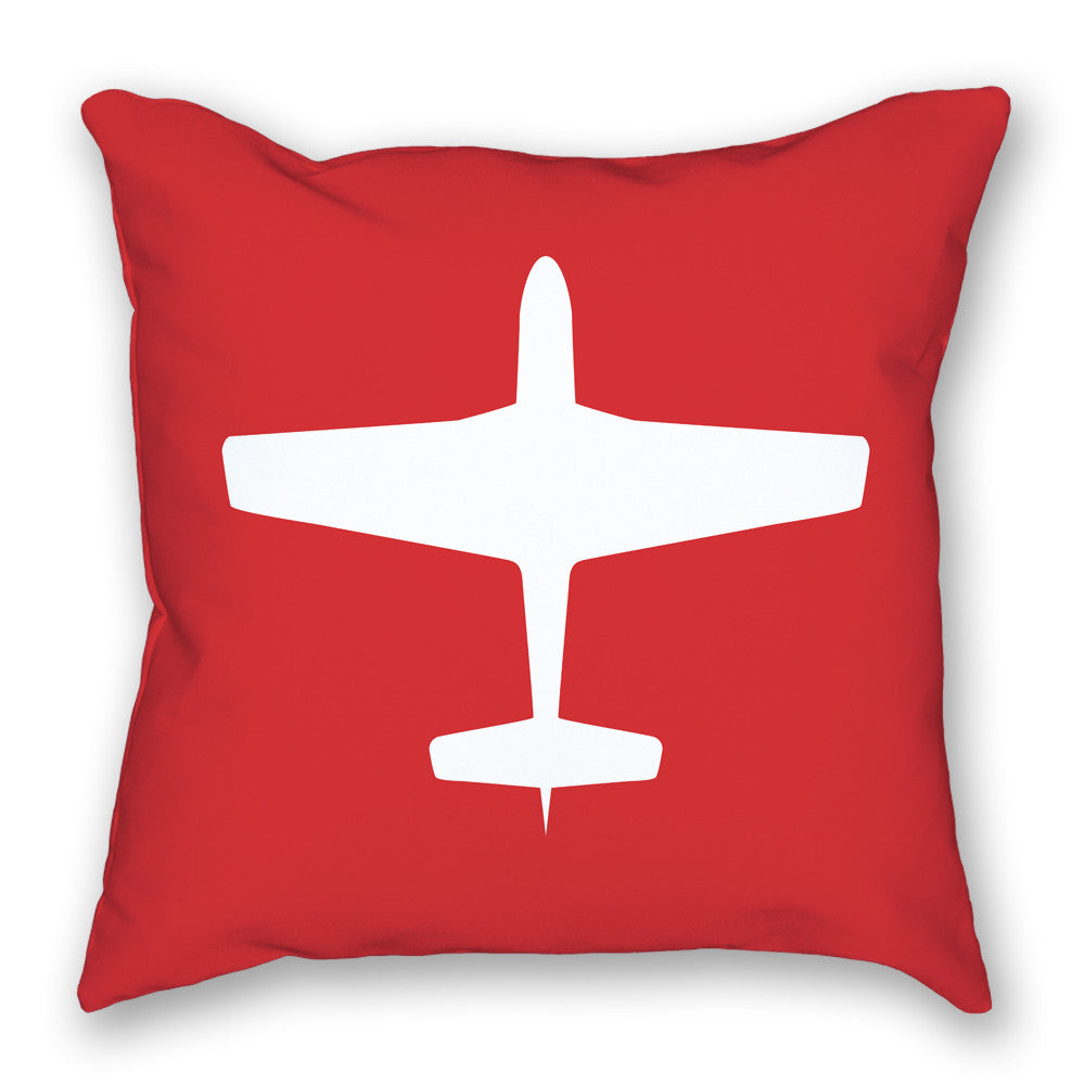 Pillow - P-51 Mustang Bright Airplane Pillow