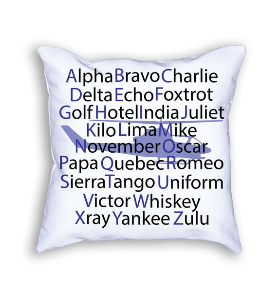 Pillow - Phonetic Alphabet Helicopter Pillow