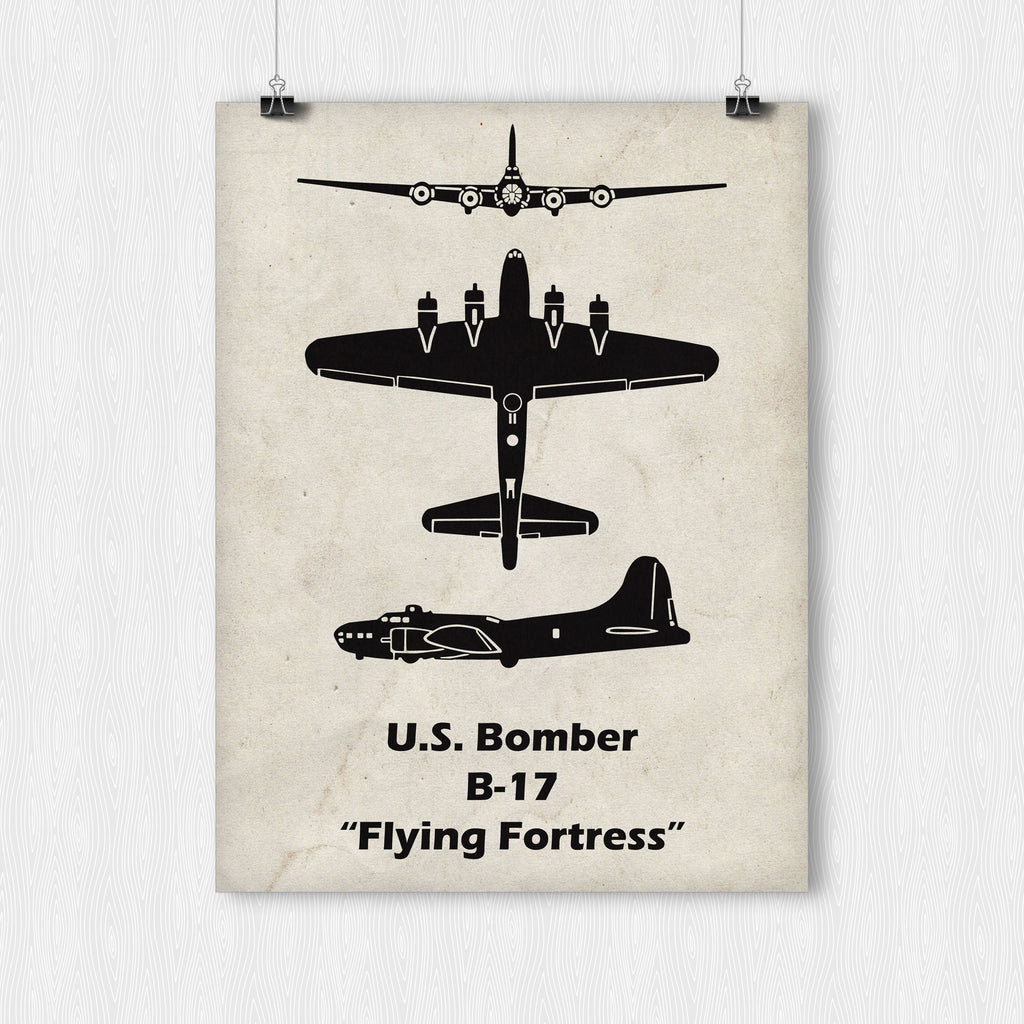 b 17 flying fortress poster pull back the yoke