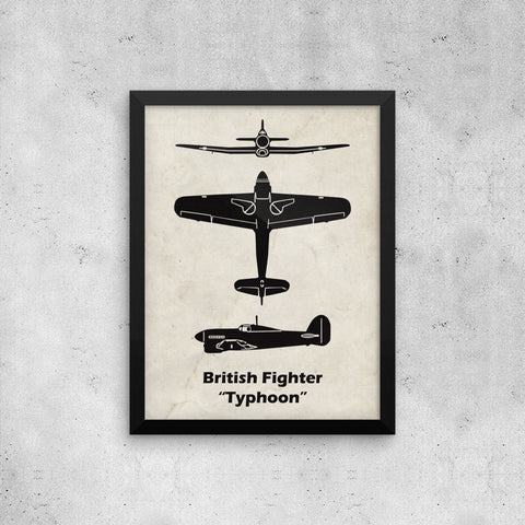 Typhoon Fighter Plane Print Giveaway
