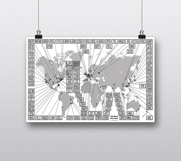 Poster - World Airports Map