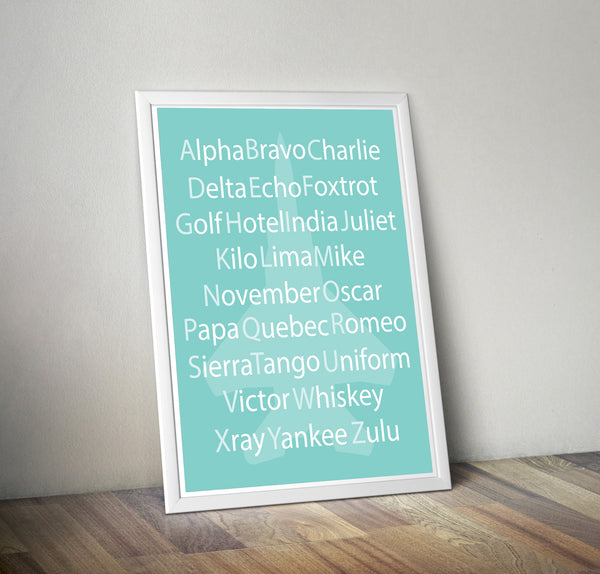 Print - Phonetic Alphabet Print-Digital Download