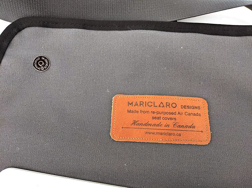 Mariclaro YYZ Laptop Bag - Vintage Forest Green Air Canada Material
