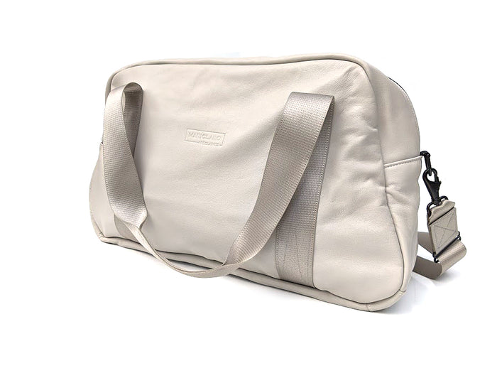 Mariclaro Leather Duffle Bag - Cream