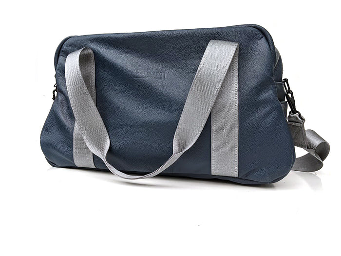 Mariclaro Leather Duffle Bag - Navy Blue