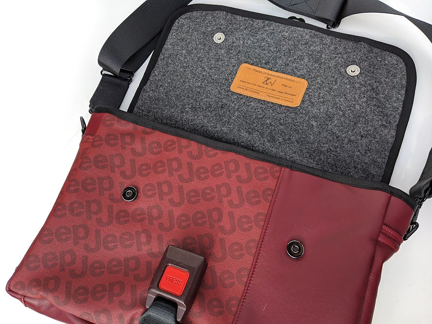 ZW Laptop Bag -  1987 Jeep Wrangler red