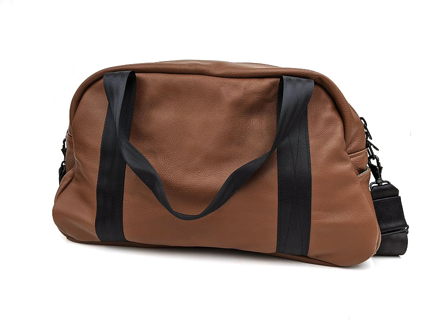 Mariclaro Leather Duffle Bag - Brown