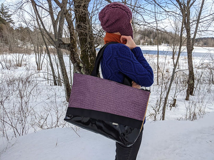 Large Chameleon Tote - Purple / Yellow