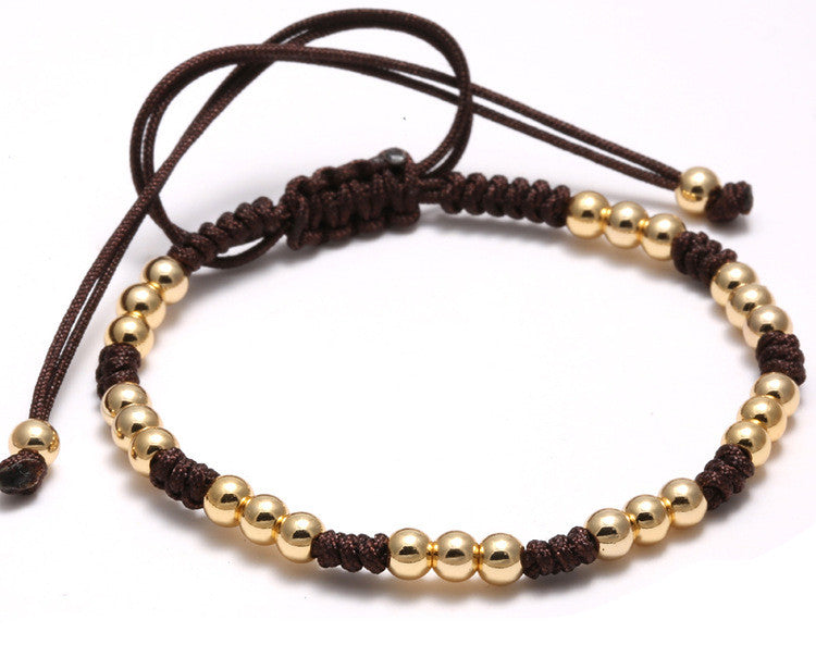 Multiple 18kt Gold Plated 4mm Beaded Macrame Bracelet