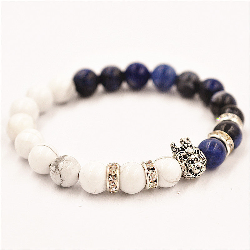 Lion Marble and Lapiz Bracelet