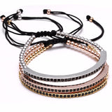 Riviere Bangle Macrame Bracelet